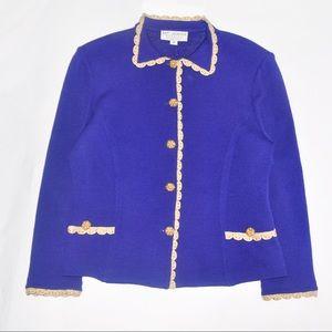 St. John Vintage Evening Jacket in Royal Blue